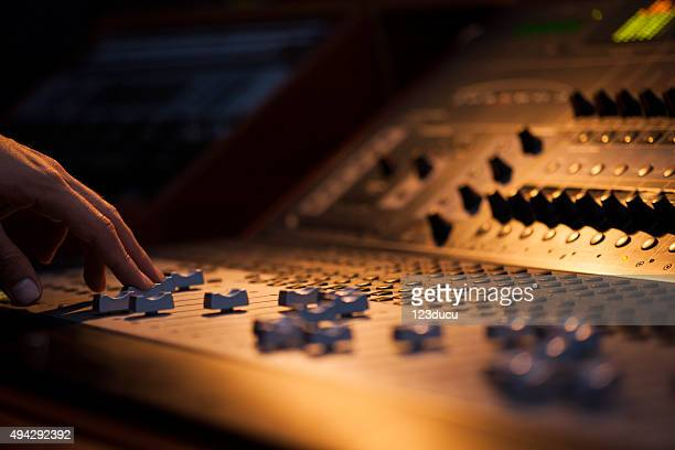 sound board macro - producer stock pictures, royalty-free photos & images