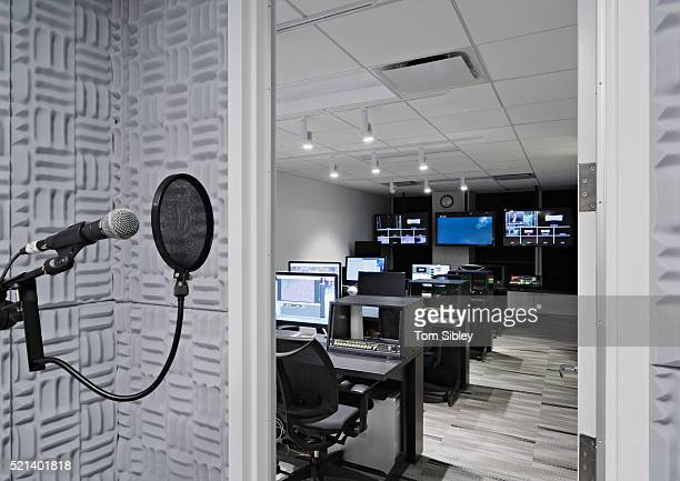 Sound booth and control room
