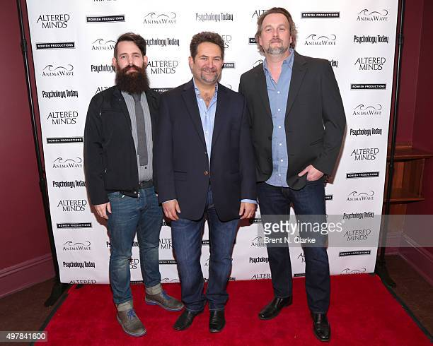 Sound designer Matt Davies director Michael Z Wechsler and sound designer Kevin Smith attend the New York premiere of Altered Minds held at the Helen...