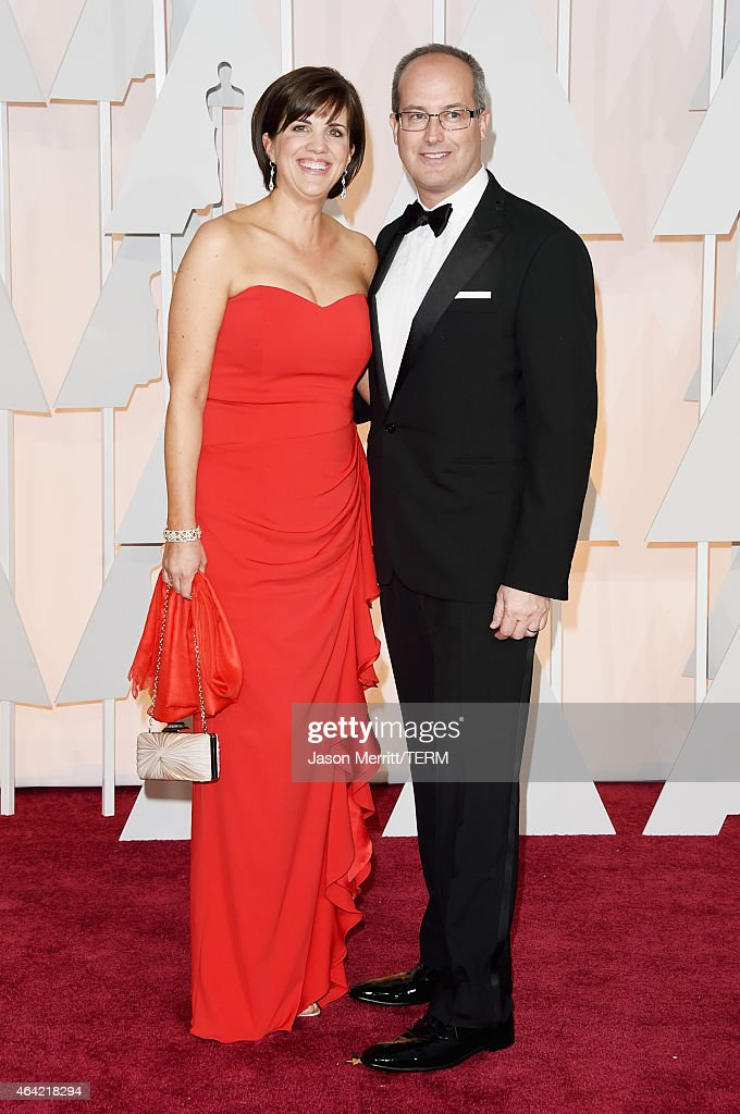 Sound editor Andrew DeCristofaro (R) and guest attend the 87th Annual Academy Awards at Hollywood & Highland Center on February 22, 2015 in Hollywood, California.