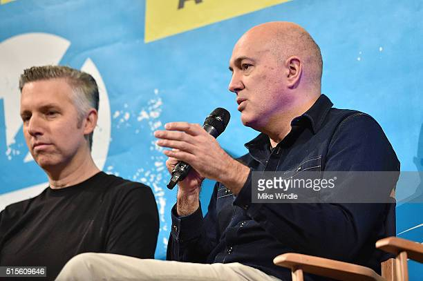 Sound editor Matthew Wood and VFX supervisor Roger Guyett attend the screening of Secrets of The Force Awakens A Cinematic Journey during the 2016...