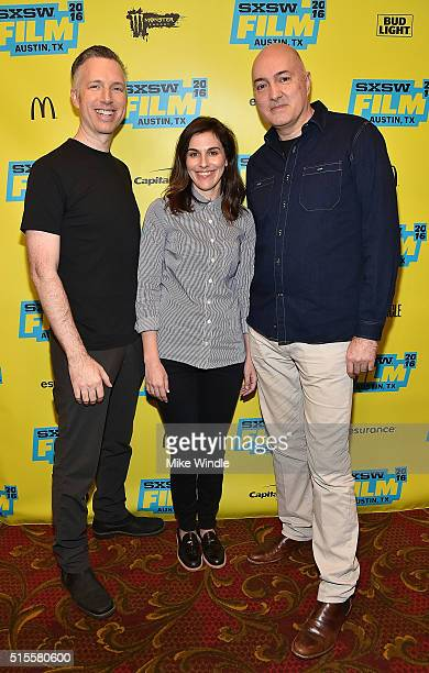 Sound editor Matthew Wood coproducer Michelle Rejwan and VFX supervisor Roger Guyett attend the screening of Secrets of The Force Awakens A Cinematic...