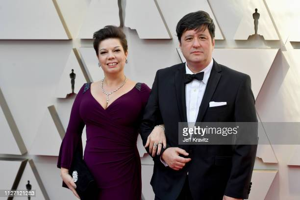 Sound editor Nina Hartstone and Kevin Kolovich attends the 91st Annual Academy Awards at Hollywood and Highland on February 24 2019 in Hollywood...