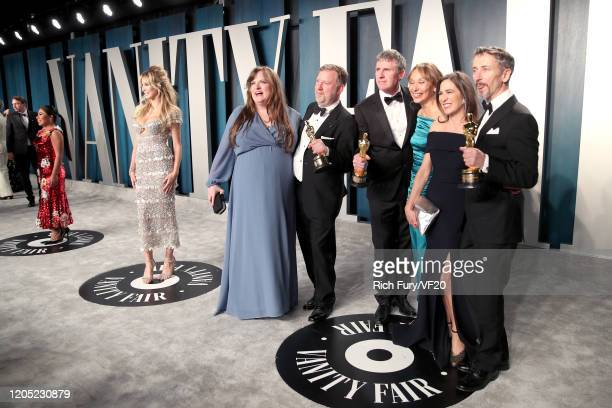 Sound eingineers Mark Taylor , US visual effects supervisor Greg Butler and special effects supervisor Dominic Tuohy attends the 2020 Vanity Fair...