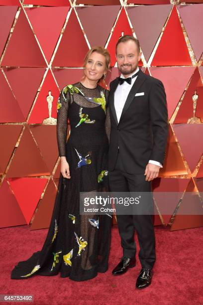 Sound engineer Andy Wright and Lela Katz attend the 89th Annual Academy Awards at Hollywood Highland Center on February 26 2017 in Hollywood...