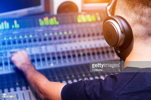 sound engineer - post-production stock pictures, royalty-free photos & images
