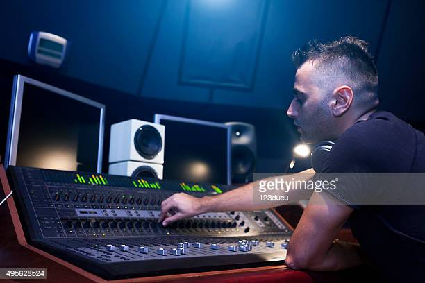 sound engineer working - post-production stock pictures, royalty-free photos & images