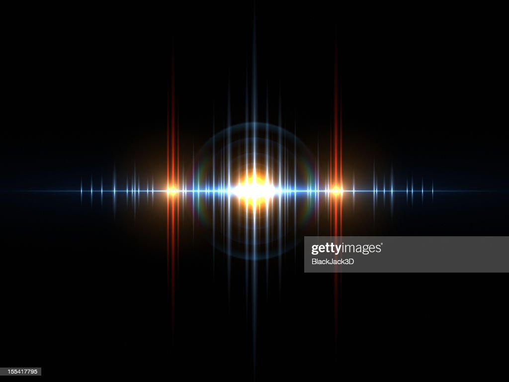 Sound Light Wave : Stock Photo