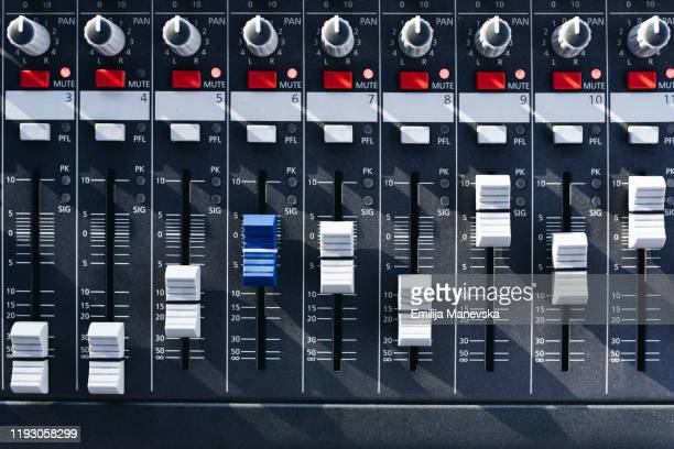 sound mixer - equaliser stock pictures, royalty-free photos & images