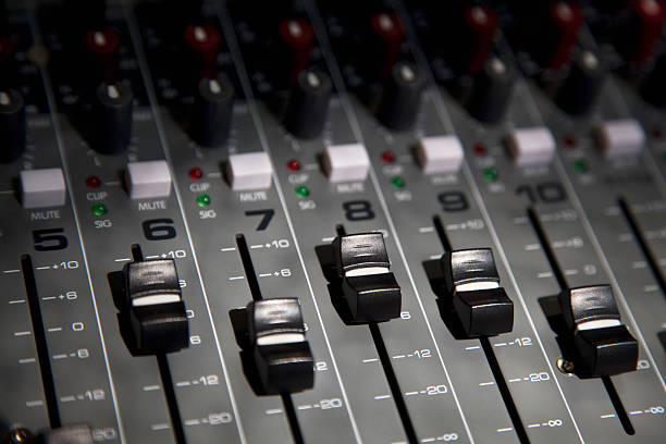 A Sound Mixing Board, Close-up, Full Frame Wall Art