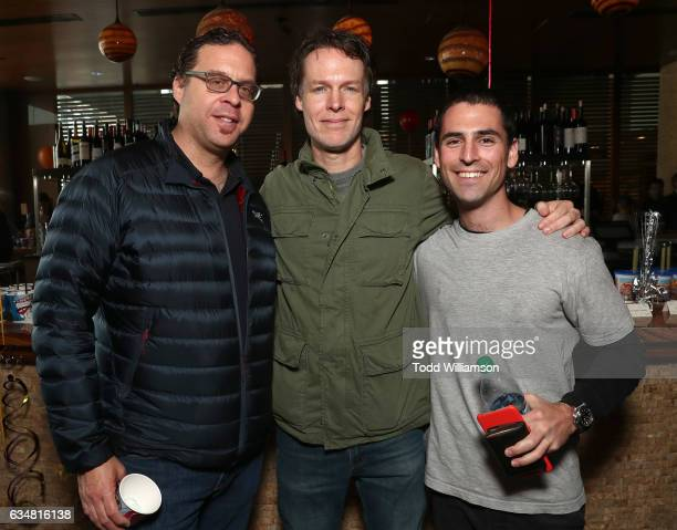 Sound Supervisor Steven Ticknor Director Ash Brannon and Adam Friedman attend a special screening of 'Rock Dog' at Westside Pavilion on February 11...
