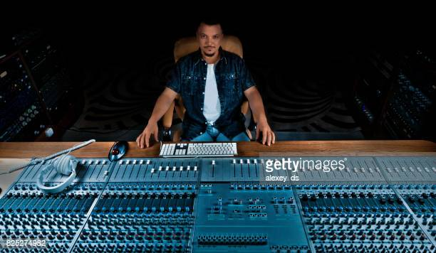 soundman at his studio - producer stock pictures, royalty-free photos & images