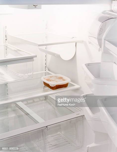 Soup in Empty Refrigerator
