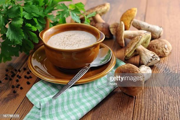 soup of cepe porcini mushroom - Suppe aus Steinpilzen