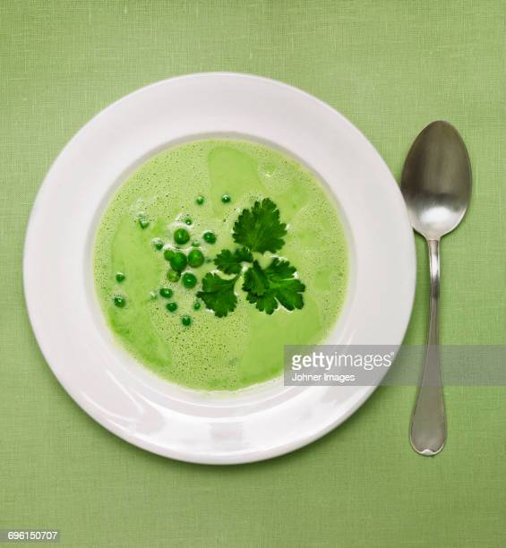 Soup on plate