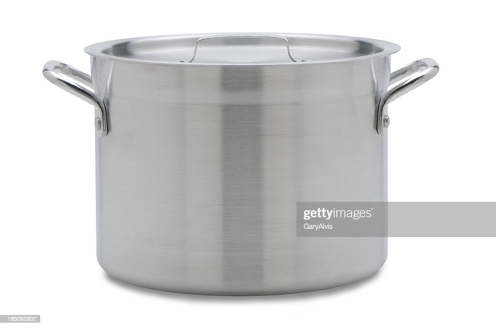 soup pot with clipping path : Stock Photo