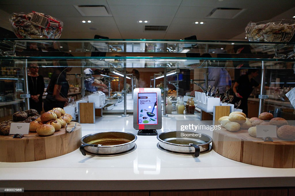 Soup pots are displayed for a employees during lunch in the cafeteria of the Societe Generale SA office in New York, U.S., on Monday, Sept. 14, 2015. Many of Wall Street's biggest banks have revamped their dining facilities in recent years, adding copious amounts of salad and partnering with local businesses to provide a smorgasbord of organic offerings. Photographer: Chris Goodney/Bloomberg via Getty Images