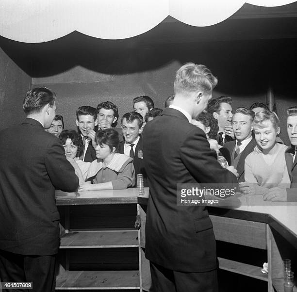 'Soupa' Dance sponsored by Heinz Mexborough South Yorkshire 1959 The residents of the South Yorkshire town of Mexborough look pleased to receive...