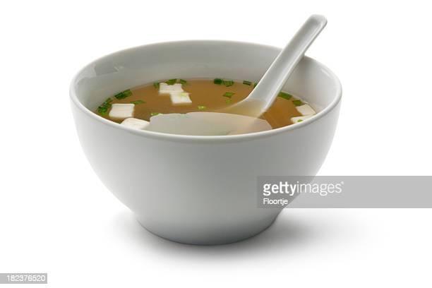 Soups: Miso soup