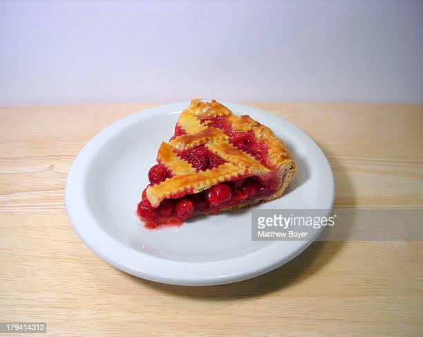 Sour Cherry Lattice Pie