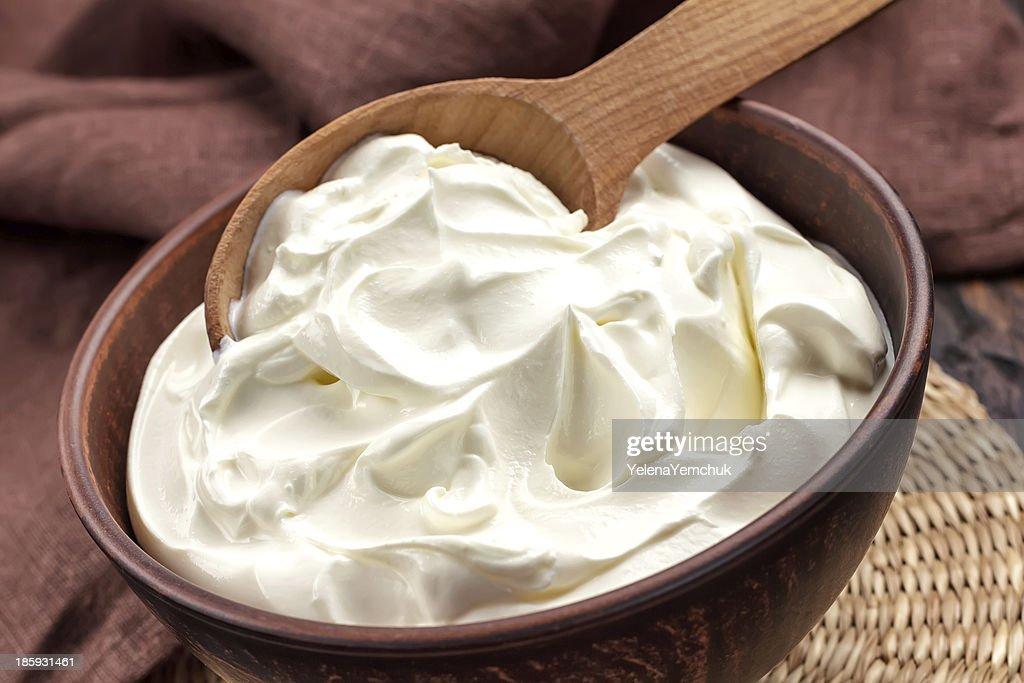 Sour cream : Stock Photo