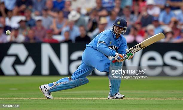 Sourav Ganguly batting for India during the 2nd NatWest Series One Day International between England and India at Lord's Cricket Ground, London, 29th...