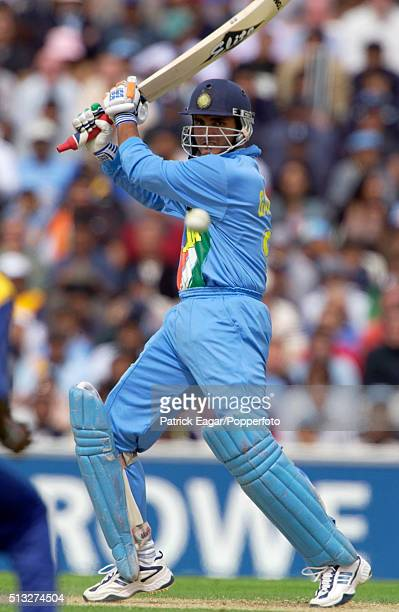 Sourav Ganguly batting for India during the NatWest Series One Day International between India and Sri Lanka at The Oval London 30th June 2002 India...