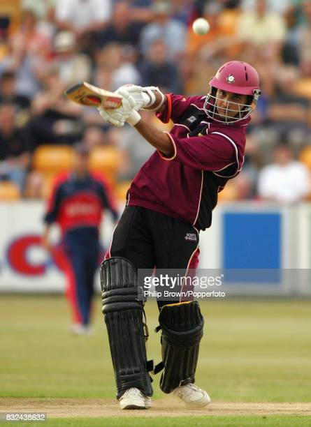 Sourav Ganguly batting for Northamptonshire during the Twenty20 Cup match between Northamptonshire and Somerset at Northampton 29th June 2006