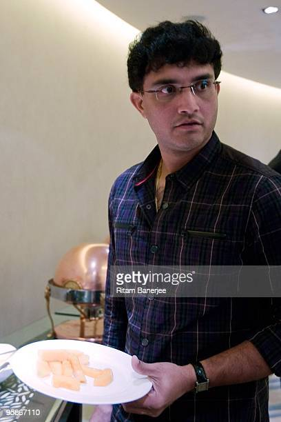 Sourav Ganguly captain of the Kolkata Knight Riders team attends the Indian Premier League Auction 2010 on January 19 2010 in Mumbai India