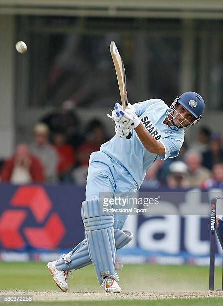 Sourav Ganguly of India during the England v India One day International at Edgbaston Birmingham UK on 27th August 2007