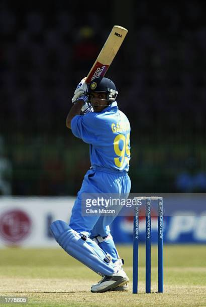 Sourav Ganguly of India in action during the ICC Champions Trophy match between India and Zimbabwe held on September 14 2002 at the R Premadasa...