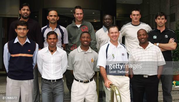 Sourav Ganguly of India Rajin Saleh of Bangladesh Tatenda Taibu of Zimbabwe Ricky Ponting of Australia and Brian Lara of West Indies InzamamulHaq of...