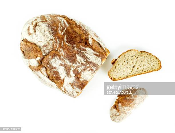sourdough bread - slice stock pictures, royalty-free photos & images