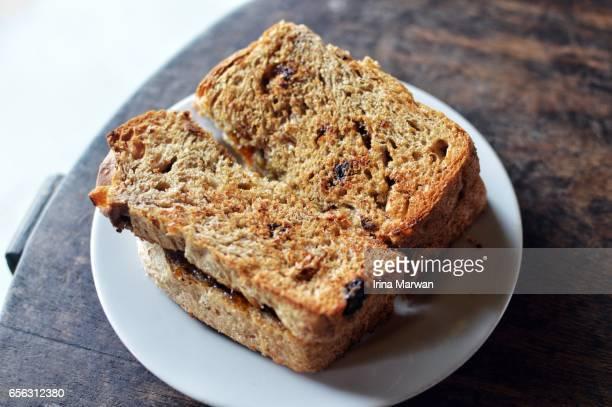 Sourdough Bread Toast with Jam