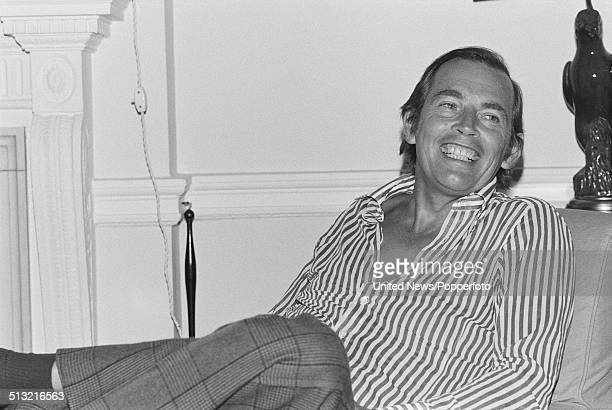 Sourth African heart surgeon Christiaan Barnard pictured in London on 19th March 1976