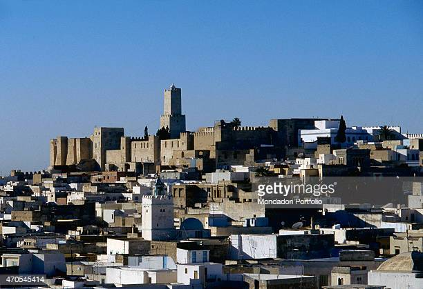 'Sousse's Medina and the Kasbah by Aghlabid craftsmen 9th century sandstone Tunisia Sousse Whole artwork view Sight of the upper city towards the...