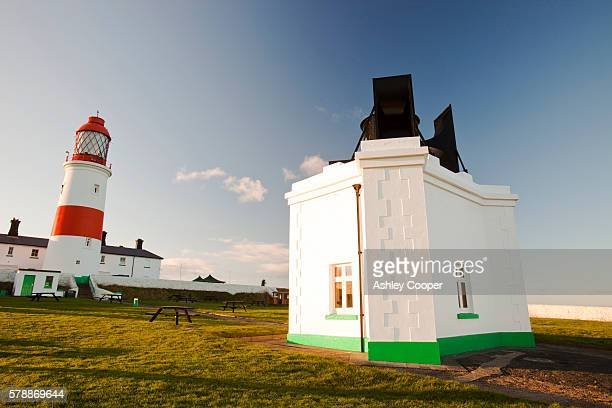 Souter Lighthouse between Sunderland and Newcastle was the first lighthouse to be reliably powered by electricity.