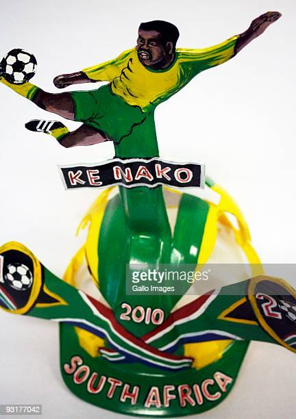 A South Africa 2010 makaraba hat is diaplayed on November 17 2009 in Johannesburg South Africa Traditionally worn with pride by soccer fans these...