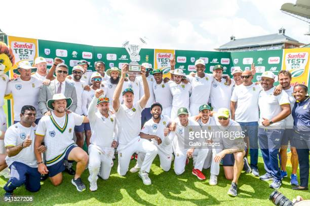 South Africa are cround the winners of the last Test Match and the series during day 5 of the 4th Sunfoil Test match between South Africa and...