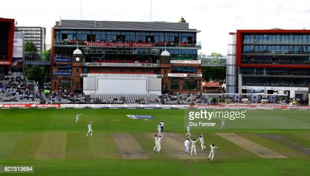 South Africa batsman Duanne Olivier is caught by Ben Stokes at slip off the bowling of Moeen Ali to win the match during day four of the 4th Investec...