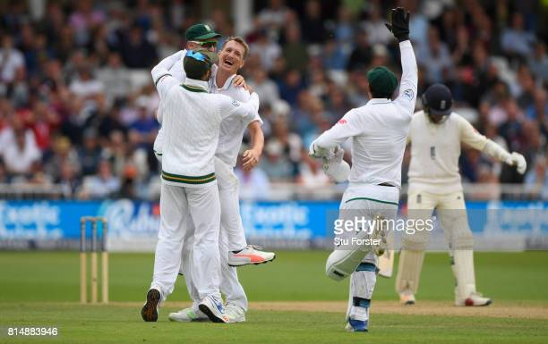 South Africa bowler Chris Morris celebrates after dismissing Moeen Ali during day two of the 2nd Investec Test match between England and South Africa...