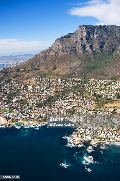 South Africa, Cape Town, Aerial View, Table Mountain.