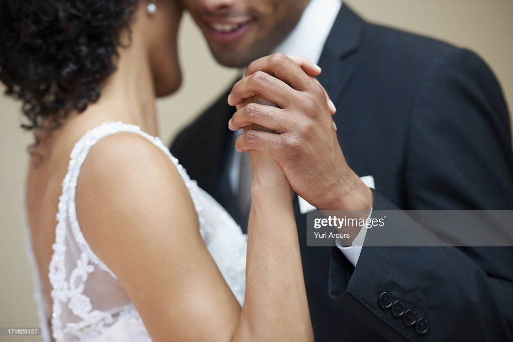South Africa, Cape Town, Bride and groom dancing : Stock Photo