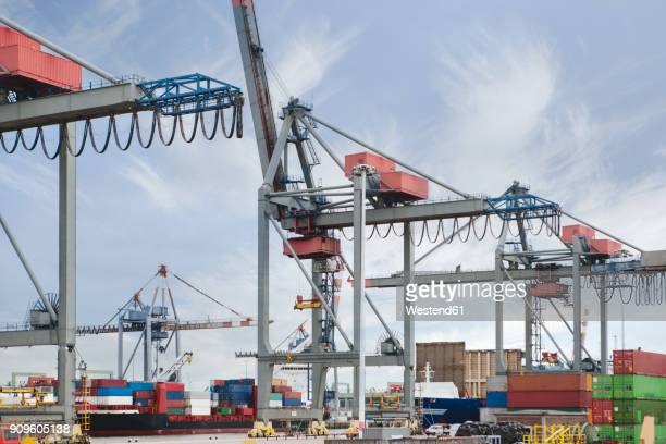 South Africa, Cape Town, Cargo ship in harbour