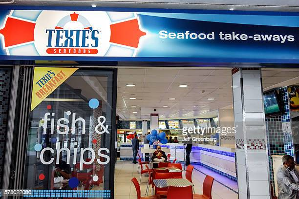South Africa Cape Town City Centre Adderley Street Texie's Seafood restaurant fish and chips takeaway
