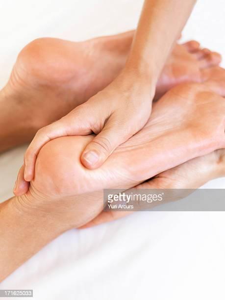South Africa, Cape Town, Hand massaging feet
