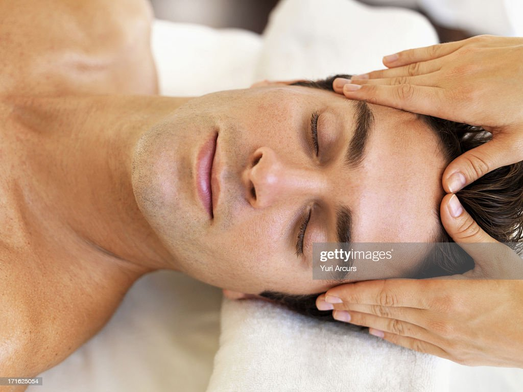 South Africa, Cape Town, Man receiving massage in spa : Stock Photo