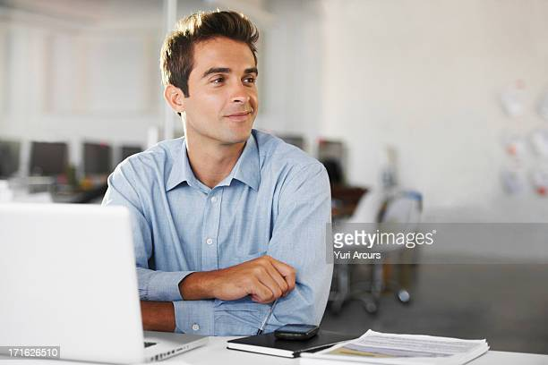 south africa, cape town, portrait of man at office - looking away stock pictures, royalty-free photos & images