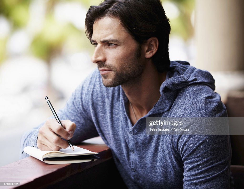 South Africa, Cape Town, Portrait of man looking away : Stock Photo