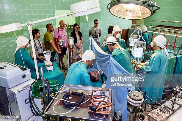 South Africa Cape Town Salt River Groote Schuur Hospital Heart of Cape Town Museum operating room reenactment performing medical transplant operation...